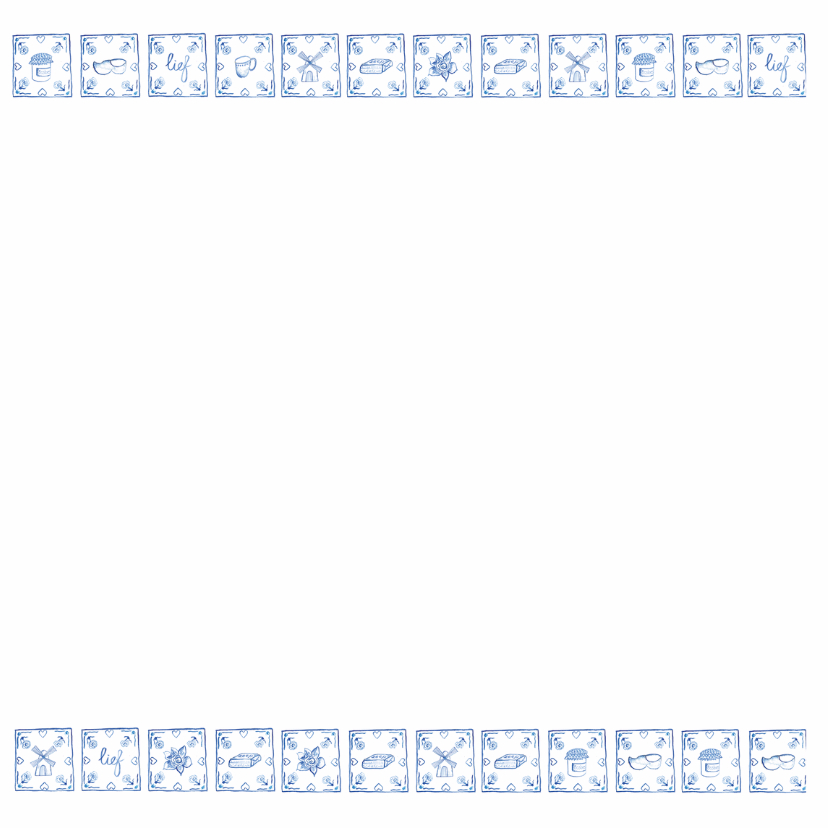 Delfts blauw jubileumkaart 2