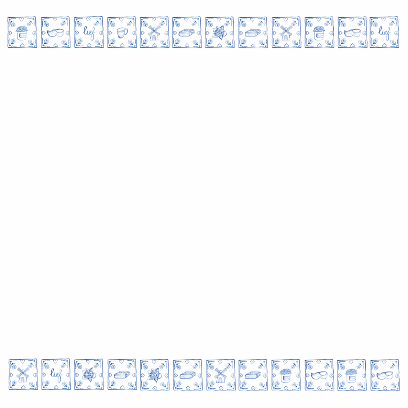Delfts blauw jubileumkaart 3