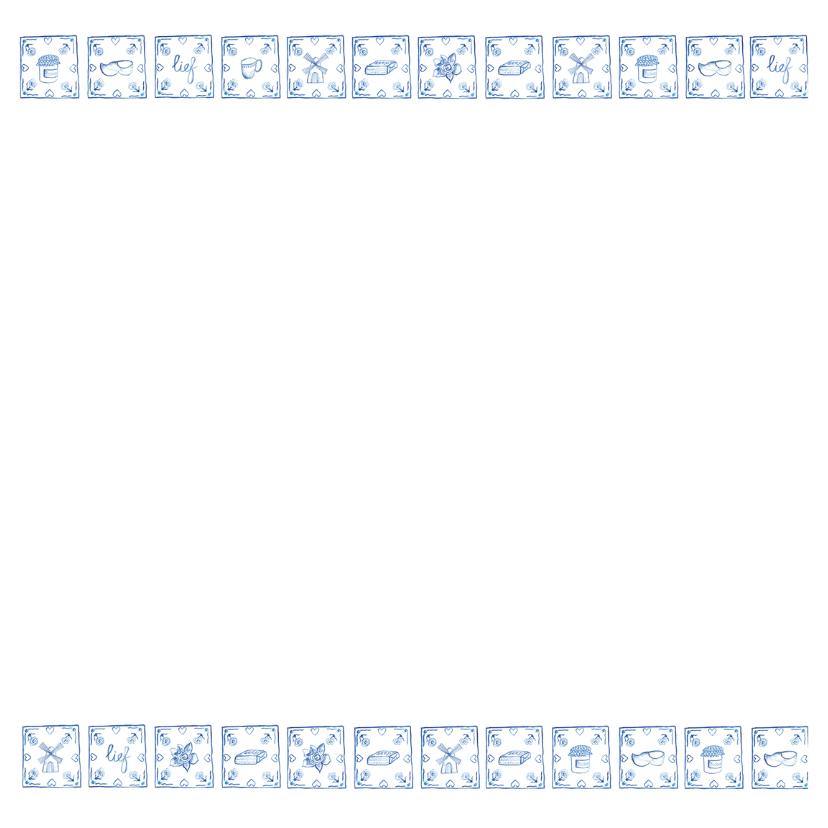 Delfts blauw verjaardagskaart 2