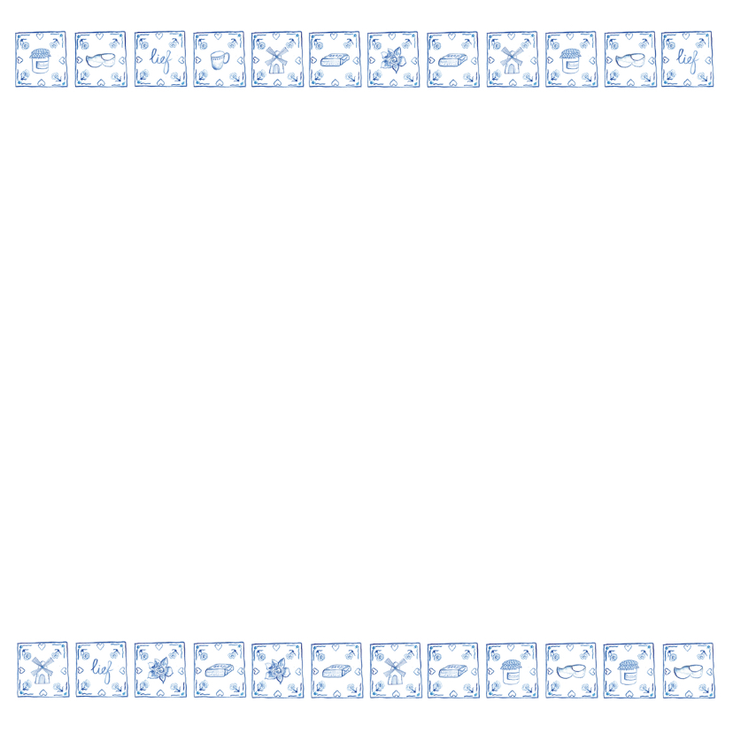 Delfts blauw verjaardagskaart 3