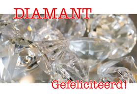 Felicitatiekaarten - Diamant - Gefeliciteerd