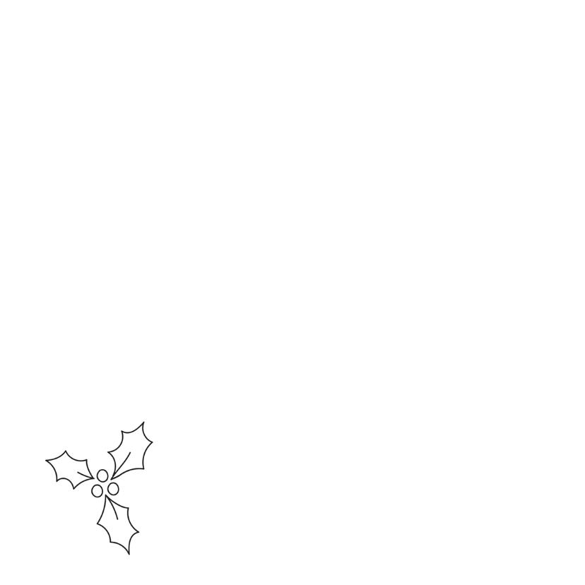 Dieren kerstkaart - Hond - Merry 2