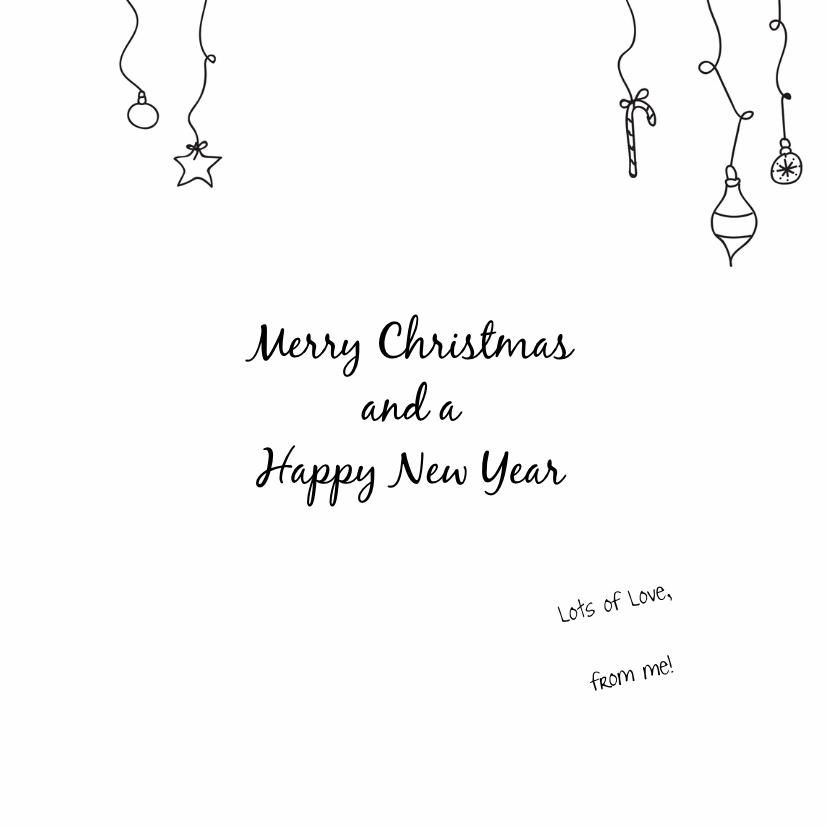 Dieren Kerstkaart - Stafford Kersthond 3