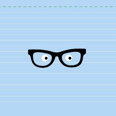 Dierenkaart-Konijn met bril-HK 2