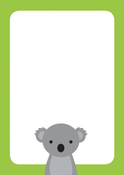 Dierenkaart Leuke Koala 3