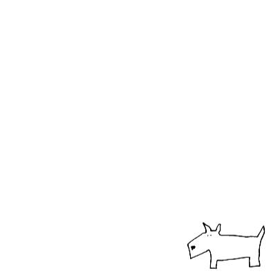 Dierenkaart met honden in blauw en oker 3