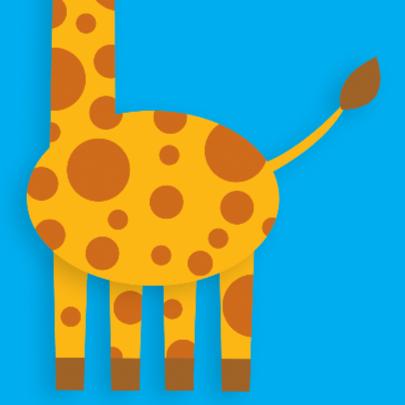 Dierenkaart Vrolijke Giraffe 2
