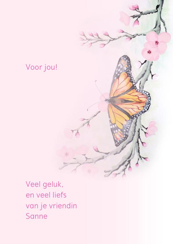 Dierenkaarten - Vlinder met bloesem 3