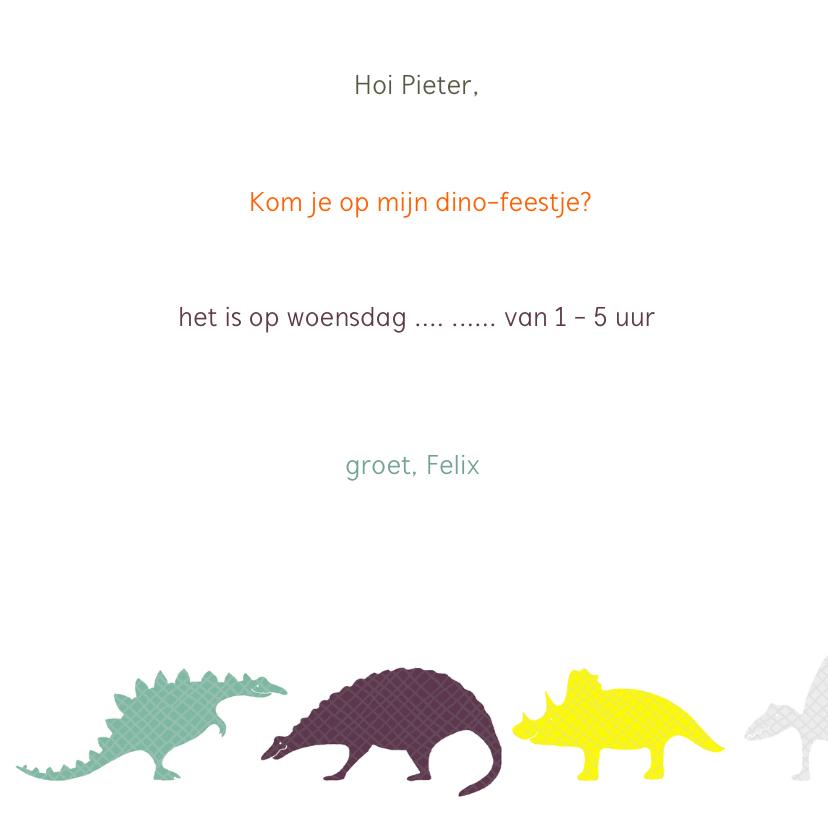Dinosauriërs Oranje 3