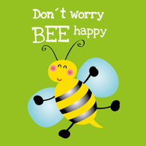 Vriendschap kaarten - Don´t worry be happy kaart