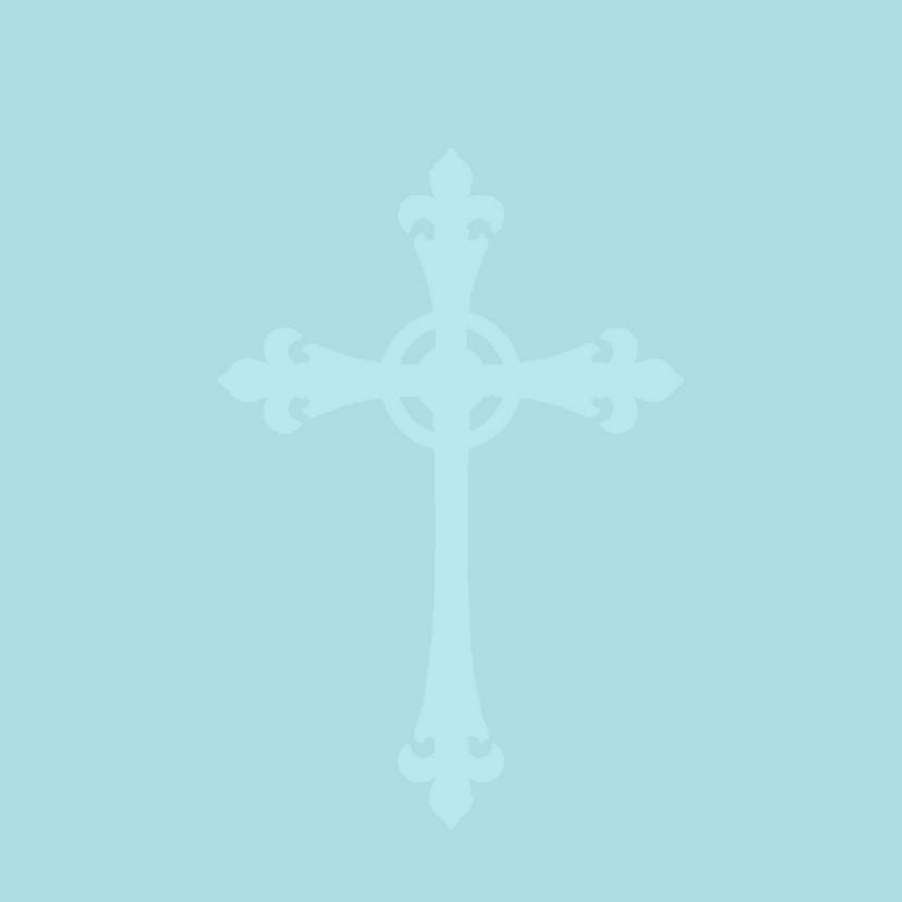 Doopkaart Blauw Barok 2