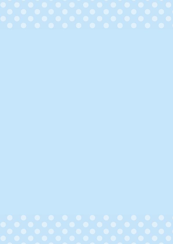 Doopkaart blauwe stippen 3