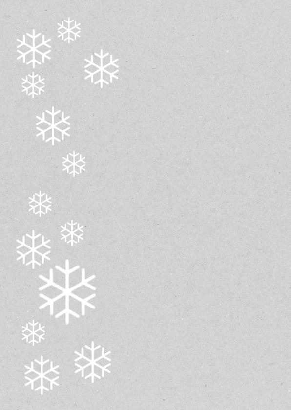 Een kerstkaart met grote foto en ijskristallen 2