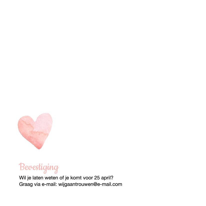 Eenvoudige trouwkaart hart  2