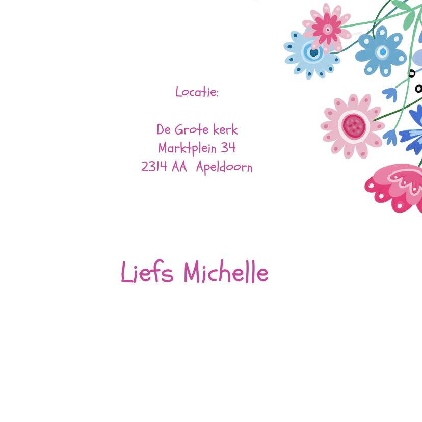 Eerste communie bloemen label 3