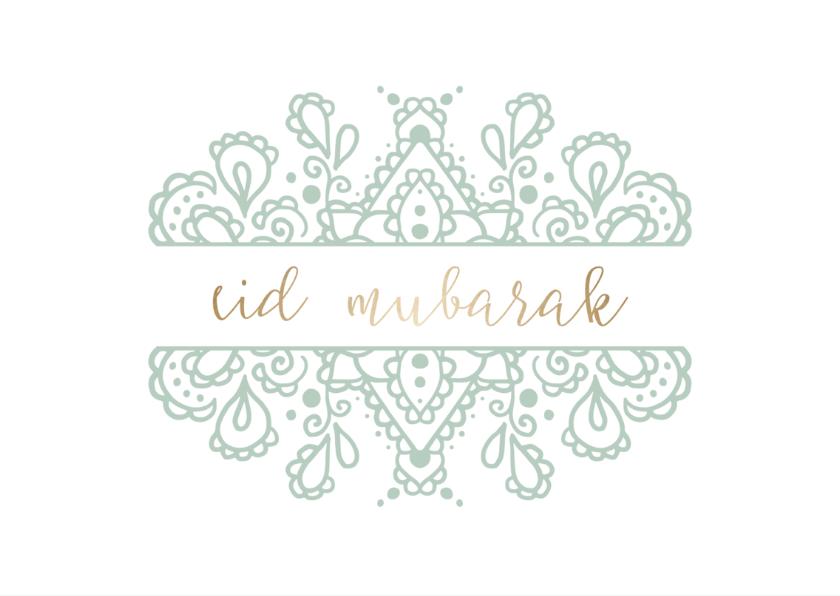 Eid Mubarak kaart met getekend patroon 2