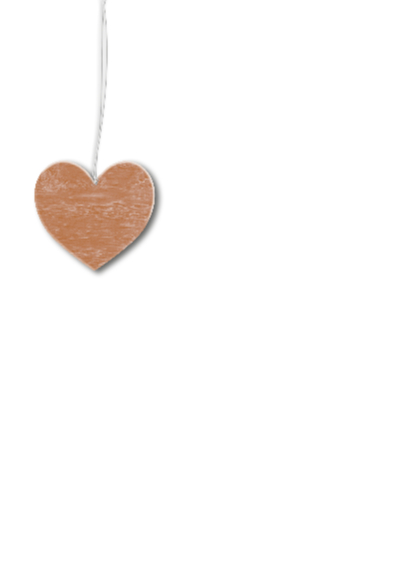 Eigen foto goud hout hart 2