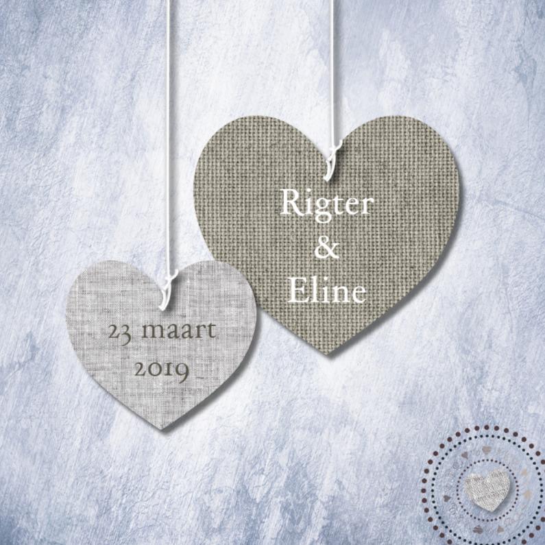 Stoffen Tas Eigen Tekst : Eigen tekst print stoffen harten trouwkaarten kaartje go