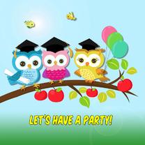 Uitnodigingen - Eindexamen feest - uiltjes