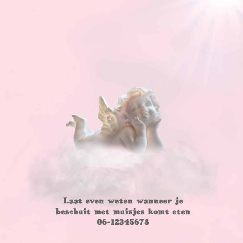 Engeltje op wolkje -roze- 2