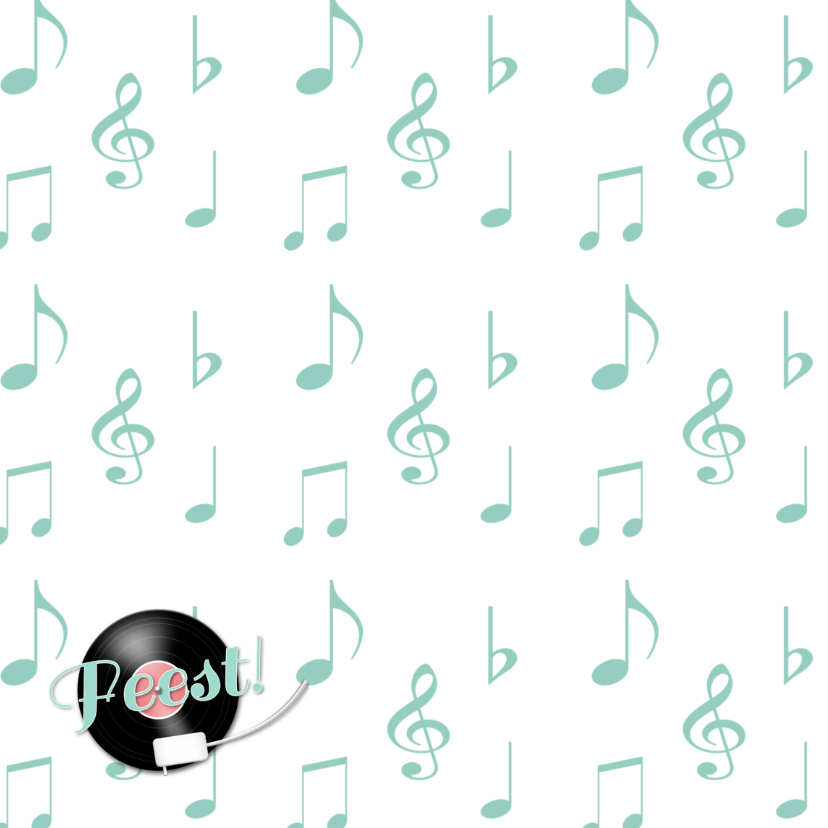 Feest muziek LP en muzieknoten 2