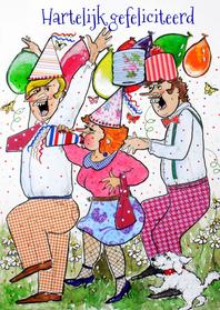 Verjaardagskaarten - Feestbeest, wat een pret
