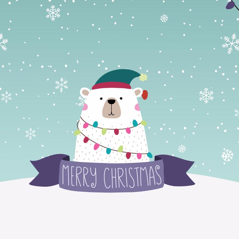 Feestelijke ijsbeer met kerstgroet 2