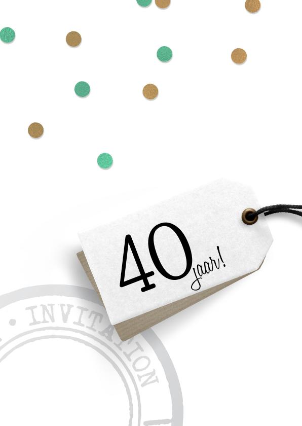 Feestelijke uitnodiging verjaardag 2
