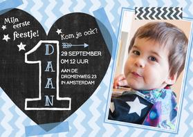 Kinderfeestjes - Feestje jongen 1 jaar hart