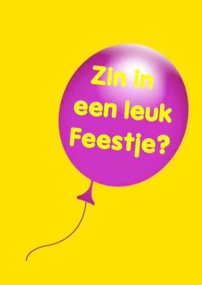 Feestje naamkaartje en ballonnen 3