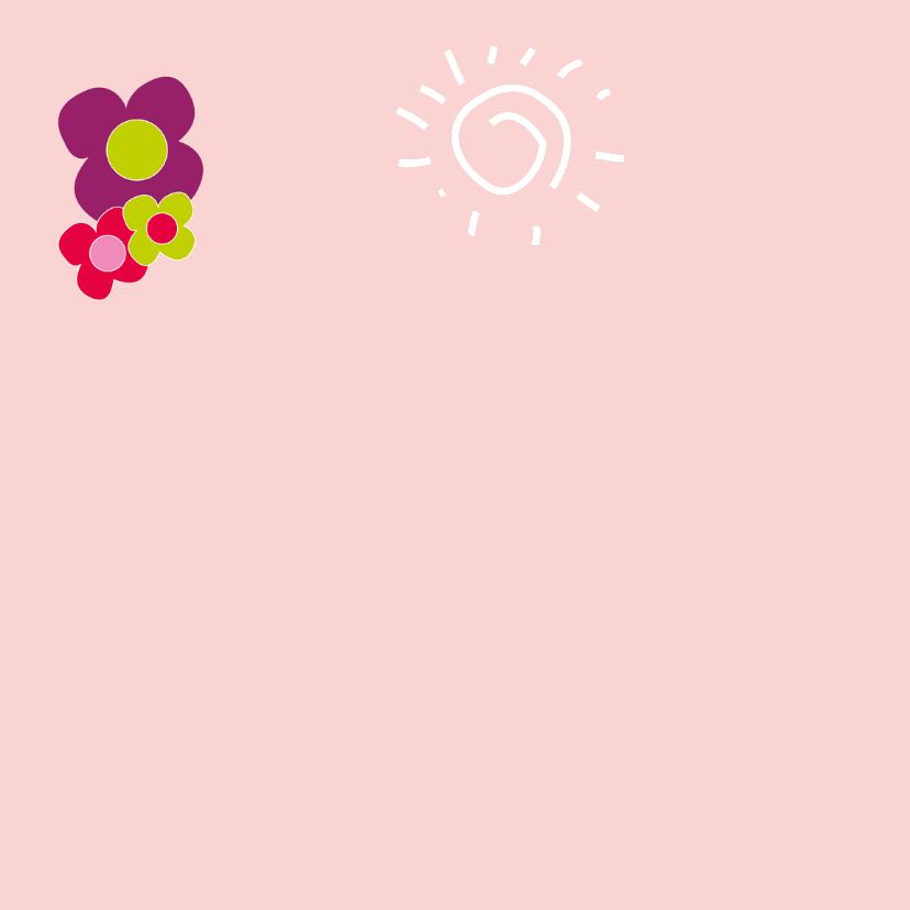 feestje roze bloemen - SZ 2