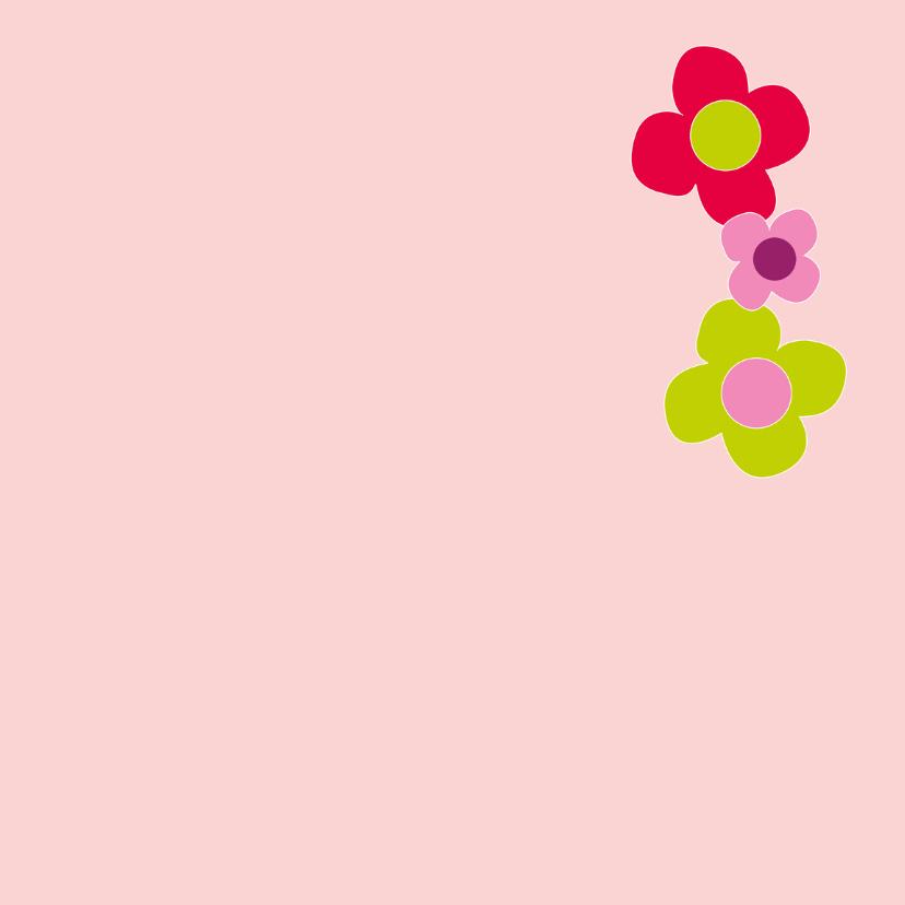 feestje roze bloemen - SZ 3