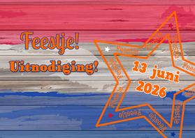 Uitnodigingen - Feestje VLAG oranje