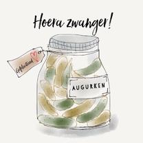 Felicitatiekaarten - Felicitatekaart Augurk