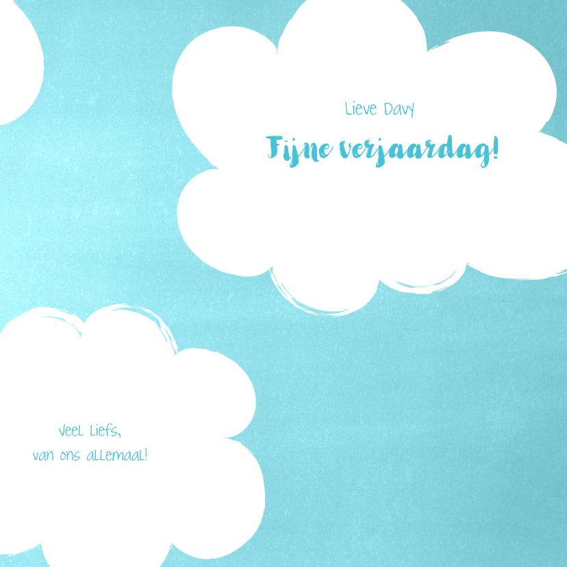 Felicitatie 1 jaar lieve zebra met ballonnen in de wolken 3