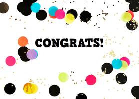Felicitatiekaarten - felicitatie algemeen confetti