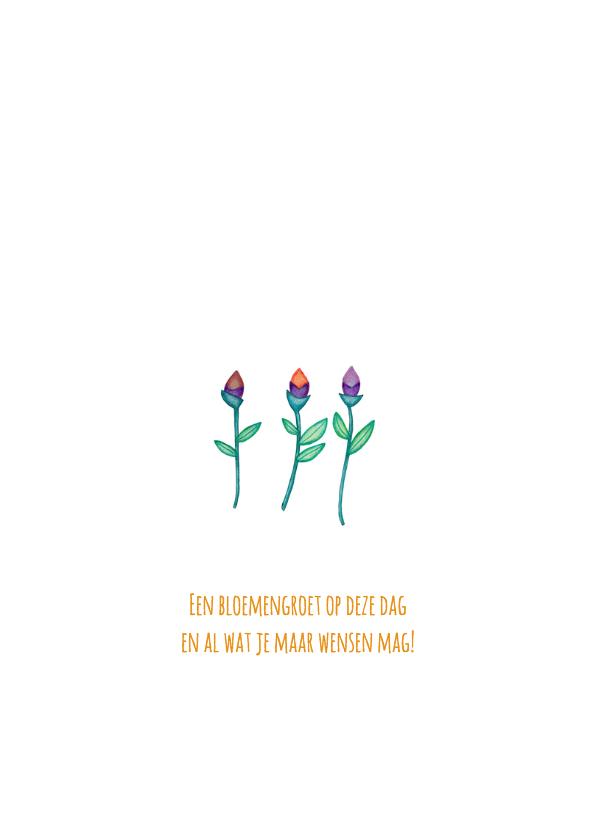 Felicitatie bloemen hoera - KK 2