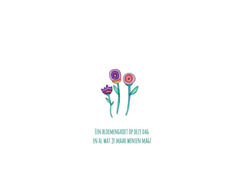 Felicitatie bloemengroet - KK 2