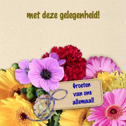 Felicitatie bos bloemen 3