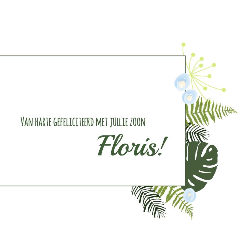 Felicitatie - Botanisch bladeren jongen 3