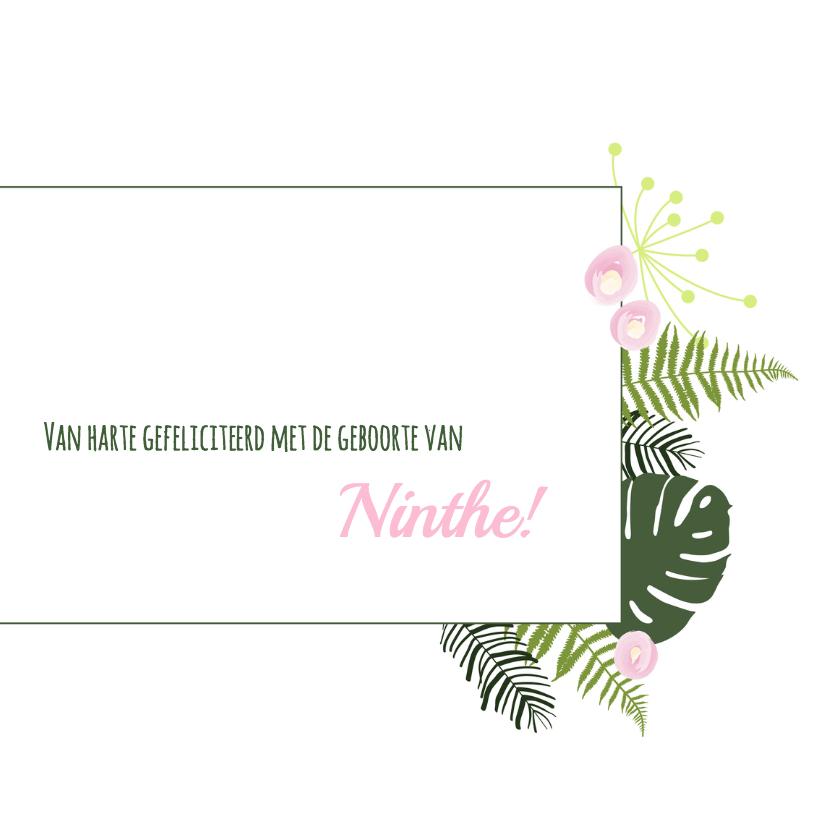 Felicitatie - Botanisch bladeren meisje 3