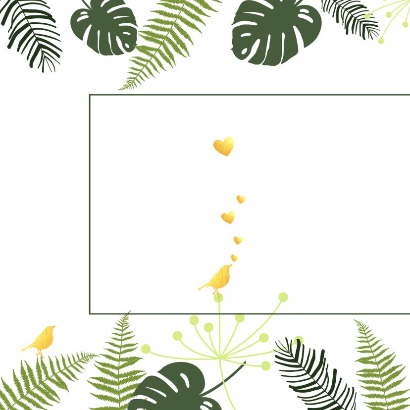 Felicitatie - Botanisch huwelijk goud 2