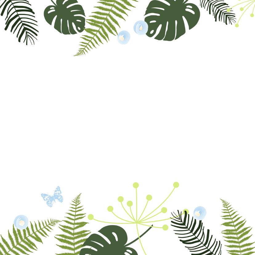 Felicitatie - Botanisch jongen 2