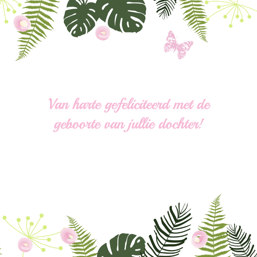 Felicitatie - Botanisch meisje 3