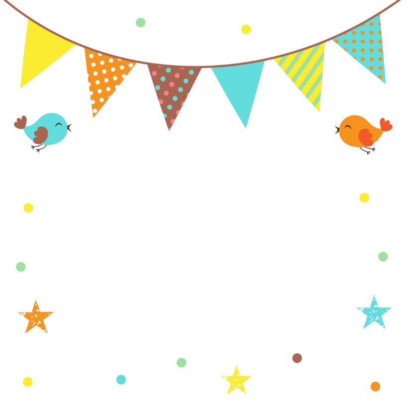 Felicitatie communie confetti vlag 2