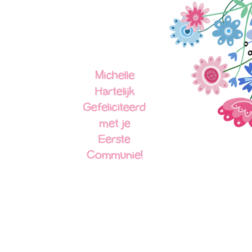 Felicitatie communie label 3