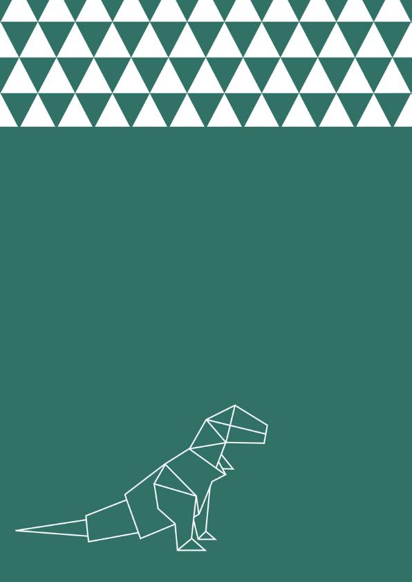 Felicitatie - Dino origami 2