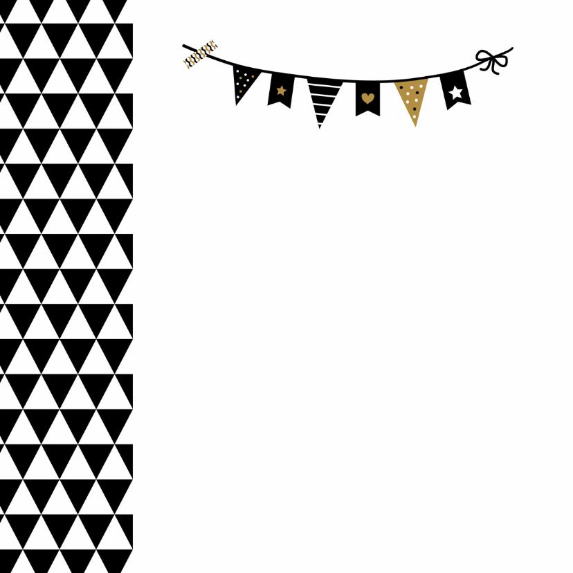 Felicitatie -Driehoek en vlaggen 2