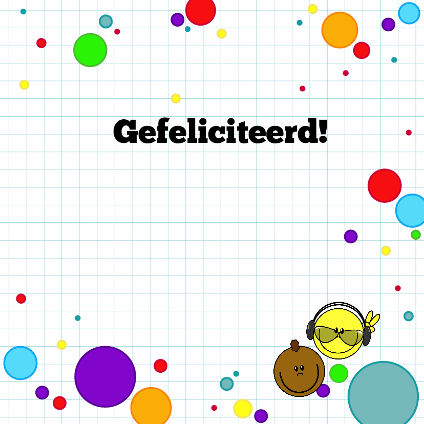 felicitatie game smiley jongen 3