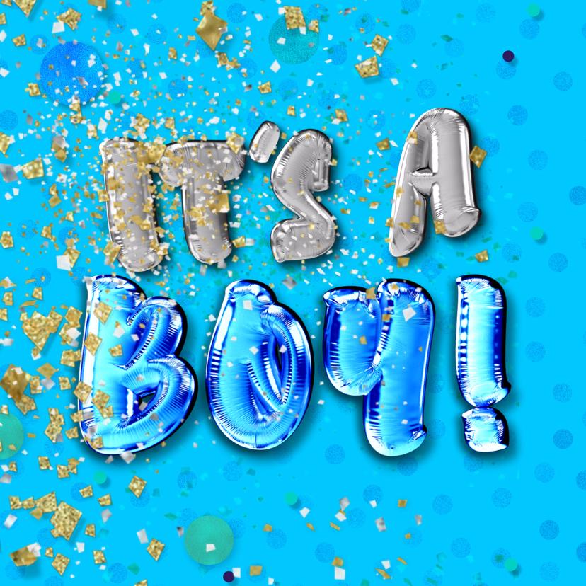 Felicitatie geboorte jongen - confetti 2